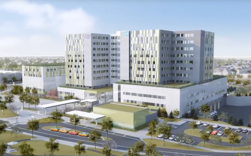 Center for Addiction and Mental Health 3D Render of building