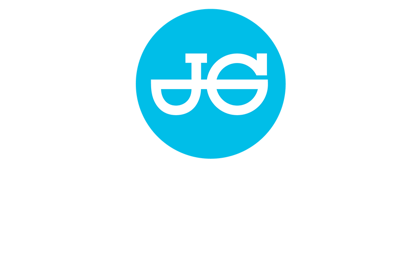 JG Speedfit logo white text on blue background.