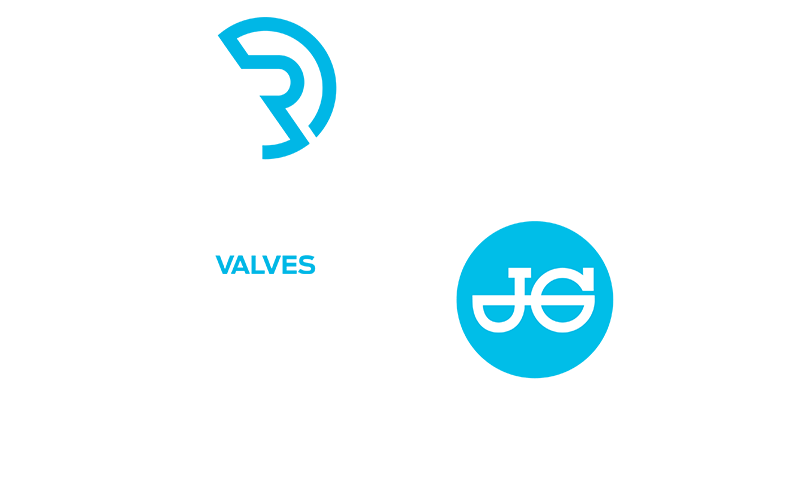 Reliance Valves and JG Speedfit logos white