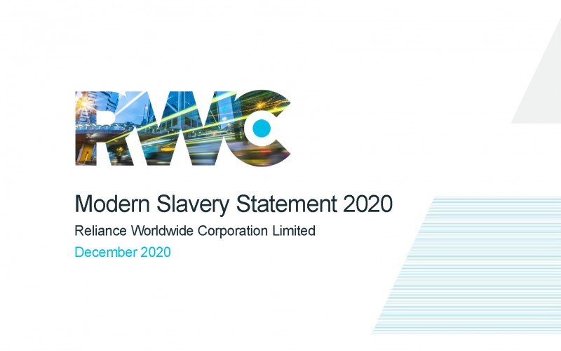 RWC Modern Slavery Statement 2020 cover