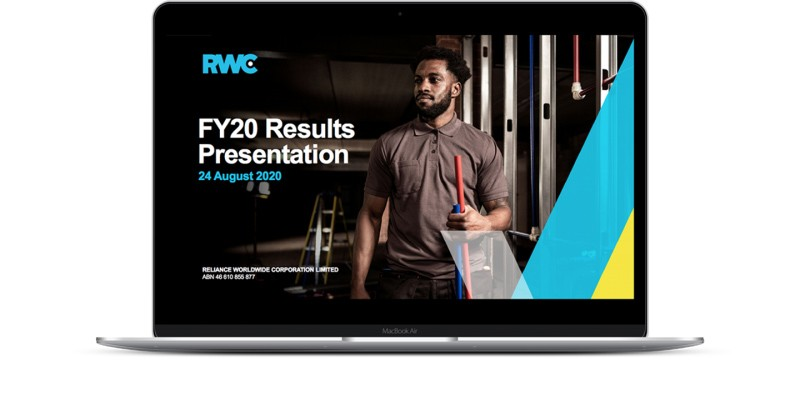 FY20 Results Presentation laptop