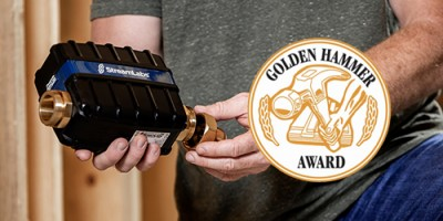 StreamLabs Control smart leak detection device with Golden Hammer Award